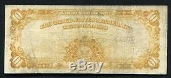 Fr. 1167 1907 $10 Ten Dollars Gold Certificate Currency Note Very Fine