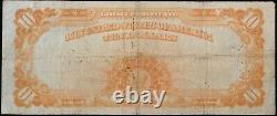 Fr. 1172= 1907 $10 GOLD CERTIFICATE = Fine (Pinholes) Bust of Michael Hillegas