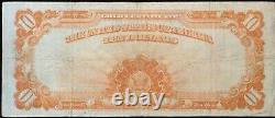 Fr. 1173= 1922 $10 GOLD CERTIFICATE = Fine == Bust of Michael Hillegas