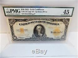 Fr. 1173 1922 $10 Gold Certificate Speelman / White PMG Choice Extremely Fine 45