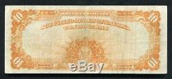 Fr. 1173 1922 $10 Ten Dollars Gold Certificate Currency Note Very Fine+