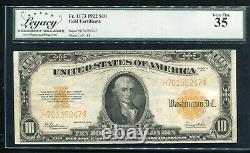 Fr. 1173 1922 $10 Ten Dollars Gold Certificate Currency Note Very Fine+ (b)