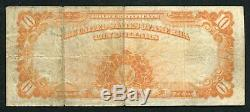 Fr. 1173 1922 $10 Ten Dollars Gold Certificate Currency Note Very Fine (d)