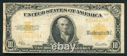 Fr. 1173 1922 $10 Ten Dollars Gold Certificate Currency Note Very Fine (f)