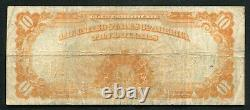 Fr. 1173 1922 $10 Ten Dollars Gold Certificate Currency Note Very Fine (g)