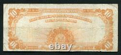 Fr. 1173 1922 $10 Ten Dollars Gold Certificate Currency Note Very Fine (h)