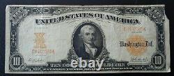 Fr. 1173 1922 Series $10 Gold Certificate Very Fine corner missing