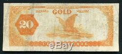 Fr. 1178 1882 $20 Twenty Dollars Gold Certificate Currency Note Very Fine