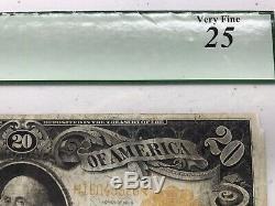 Fr. 1186 1906 $20 Twenty Dollar Gold Certificate Very Fine 25 PCGS Rating b-x