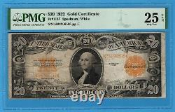 Fr. 1187 1922 $20 Gold Certificate PMG Very Fine 25 EPQ