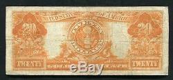 Fr. 1187 1922 $20 Twenty Dollars Gold Certificate Currency Note Very Fine