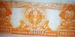 Fr. 1187 1922 $20 Twenty Dollars Gold Certificate Currency Note Very Fine+