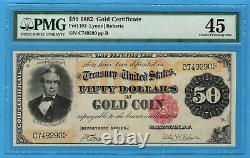 Fr. 1193 1882 $50 Gold Certificate PMG Choice Extremely Fine 45
