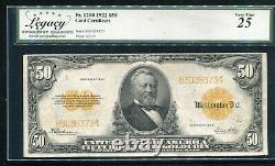 Fr. 1200 1922 $50 Fifty Dollars Gold Certificate Currency Note Pcgs Very Fine-25