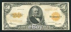 Fr. 1200 1922 $50 Fifty Dollars Gold Certificate Currency Note Very Fine+