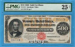 Fr. 1217 1922 $500 Gold Certificate PMG Very Fine 25 NET Restoration