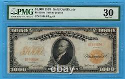 Fr. 1219e 1907 $1000 Gold Certificate PMG Very Fine 30