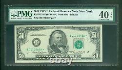 Fr#2117-b 1969-c $50 Rare New York Low Serial Star Note Pmg Extra Fine 40 Epq