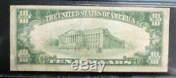 Fr 2400 1928 $10 GOLD CERTIFICATE PMG 25 FREE SHIPPING VERY FINE
