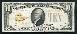 Fr. 2400 1928 $10 Ten Dollars Gold Certificate Currency Note Very Fine+