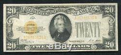 Fr. 2402 1928 $20 Twenty Dollars Gold Certificate Currency Note Very Fine