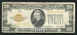 Fr. 2402 1928 $20 Twenty Dollars Gold Certificate Currency Note Very Fine (c)