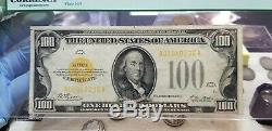 Fr. 2405 $100 1928 Gold Certificate PCGS Very Fine 35 Exceptional Eye Appeal