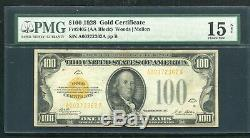 Fr. 2405 1928 $100 One Hundred Dollars Gold Certificate Pmg Choice Fine-15