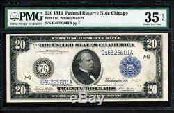 Fr. 991C 1914 $20 CHICAGO TYPE C FRN FINEST GRADED PMG 35EPQ CHOICE VERY FINE