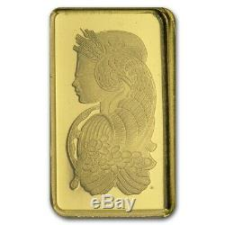Gold. 9999 Fine Gold Bar Sealed With Assay Certificate