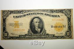 Large Serie of 1922 Large Size Gold Certificate Grades Fine (Stock # K809513)