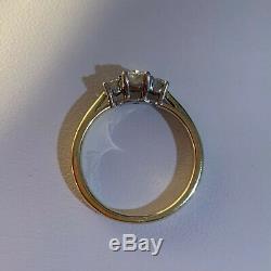 Lunns Portfolio Of Fine Diamonds Trilogy Ring 18ct Gold & IGI Certificate & Box
