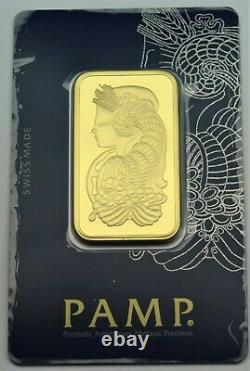 Pamp Suisse. 9999 Fine Gold Bar Lady Fortuna 1oz. With Veriscan certificate