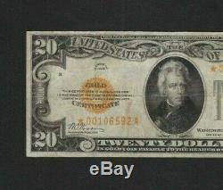 Rare Scarce Nice Star 1928 $20 Gold Certificate Small Very Fine No Probs Nr