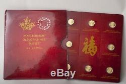 Royal Canadian Mint Maplegram8 8 x 1g FINE GOLD Assay Certificate BU