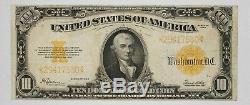 Series 1922 Gold Certificate $10 Choice Vf+++ Very Fine Plus ++ Fr-1173 (530)