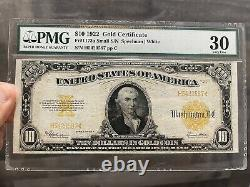Series 1922 Gold Certificate Pmg 30 Very Fine Fr1173a Small Serial # Variation