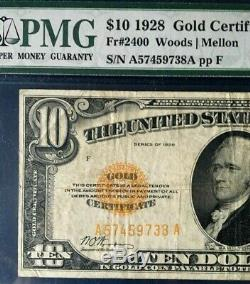 Series 1928 $10 Gold Certificate, Pmg 20 Very Fine, Reasonable