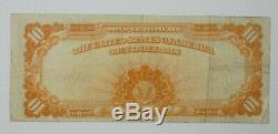 Series of 1907 Large Size $10 Gold Certificate Note VERY FINE Fr#1172