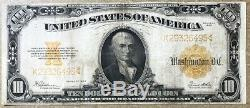 Series of 1922 $10 Ten Dollars Gold Certificate FR-1173 Very Fine