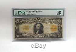 Series of 1922 Large Size $20 Gold Certificate PMG 25 Very FINE Fr#1187
