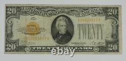 Series of 1928 $20 Gold Certificate Note FINE+ Fr#2402 No holes or tears
