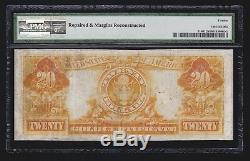 US 1905 $20 Gold Certificate Technicolor FR 1180 PMG 12 Fine Net (-839)