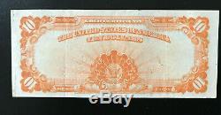 U. S. $10.00 Gold Certificate. 1922 FR1173. Very Fine. Large Note