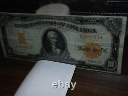 United States of America 1907 $10.00 Gold Certificate in Very Fine Condition