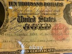Us $10,000 Gold Certificate Pmg 20 Very Fine Certified Currency Banknote 1900