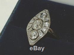 Vintage 14ct Gold 1.90ct Diamond Ring I VS2 With Certificate 0.70CT SOLITAIRE