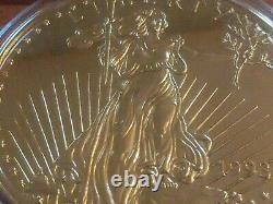 Washington Mint Giant Half-Pound Golden Eagle. 999 Fine Silver with Certificate