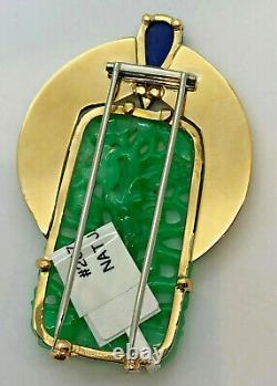 Wedderien 14K Jadeite Jade pin with GIA certificate